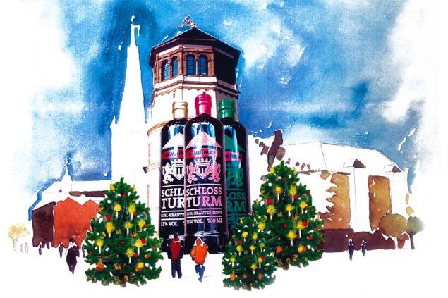 Schlossturm zu Weihnachten